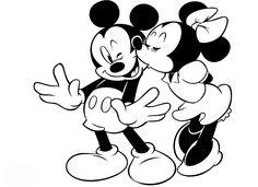 mickey y minnie colorear | imprimir y colorear a personajes de mickey | dibujos y colorear