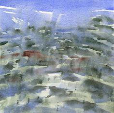 GRISAZUR: Acuarela sobre papel, 20x20 cm.Jul. 23, 2015