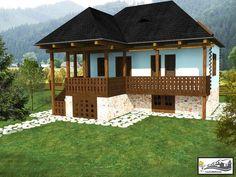 case taranesti peasant houses 11 Village House Design, Village Houses, Modern House Facades, Stone Houses, Facade House, Beautiful Buildings, Traditional House, House Plans, House Styles