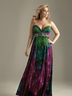 Plus size formal dress.....this makes me want to find some kinda formal gig just so I can wear this to it! :P