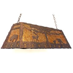 Copper Canyon Lodge And Cabin PEM150 Series Island And Pool Table Light  #RusticLighting #KitchenLighting