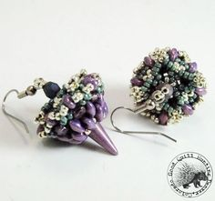 Lilac Vega & Sage Earrings
