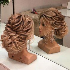 20 diy ponytail hairstyle ideas for you 26 Bridal Hair Updo, Wedding Hair And Makeup, Wedding Updo, Hair Makeup, Diy Wedding, Wedding Nails, Bridesmaid Hair, Prom Hair, Medium Hair Styles