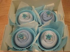 Baby boy sock cupcakes