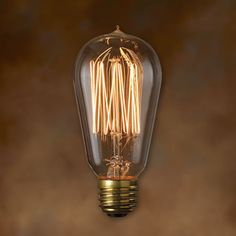 ST18 Antique Light Bulb - 40 Watt - 3000 Hours - 120 Lumens