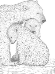 Hey, I found this really awesome Etsy listing at https://www.etsy.com/listing/177701265/a-tender-moment-polar-bears-18x24