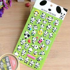 1 pcs cute Naughty panda 3D Bubble stickers DIY album adhesive paper Scrapbook Notebook decoration sticker stationery kids gifts