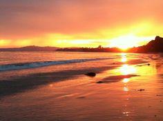 A marvelous sunset at Summerland Beach, Summerland CA.