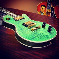 Gibson Custom Les Paul Custom Figured in Neon Green