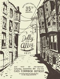 Dally in the Alley 2012 - illustration by Michael E Burdick