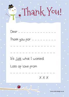 Free Printable Thank You note   #christmas #thankyou #thank #you #printable #free #snowman #robin #xmas