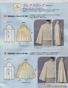 Sensational Tips Sewing Pattern Ideas. Brilliantly Tips Sewing Pattern Ideas. Dress Sewing Patterns, Clothing Patterns, Sewing Sleeves, Sewing Blouses, Japanese Sewing, Fashion Sewing, Fashion Books, Sewing Techniques, Pattern Fashion