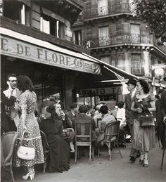 Cafe de Flore, Robert Doisneau,1949