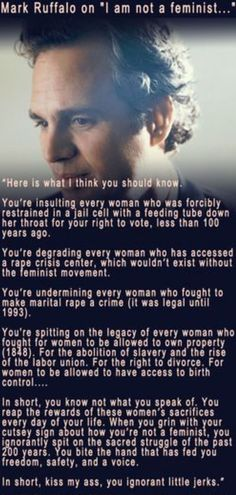 Mark Ruffalo #quotes #feminism