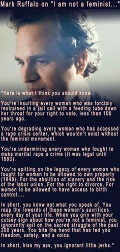 Mark Ruffalo #quotes #feminism