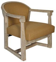 "SOF177WW  Plaisir Relax Chair  White Weathered    31.5"" x 31"" x 32"" H"