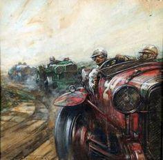 Frederick Gordon Crosby - Motor Racing Scene – Bentley Race