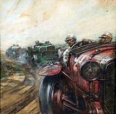 Frederick Gordon Crosby - Motor Racing Scene – Bentley Race