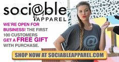 We are now #trending! Head over to Soci@ble Apparel to shop the latest graphic, slogan & hashtag tops for women! #chichjustgotreal #wearesociable