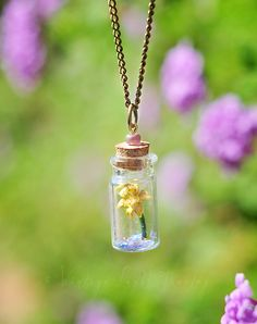 Tangled Rapunzel Inspired Golden Flower in by VintageLightJewelry Disney Inspired Jewelry, Glowing Flowers, Tangled Rapunzel, Golden Flower, Bottle Necklace, Vintage Lighting, Arrow Necklace, Inspiration, Outfits