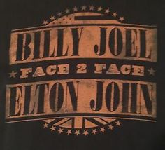 Billy Joel Elton John Face 2 Face Large Black Concert T Shirt Free Shipping | eBay