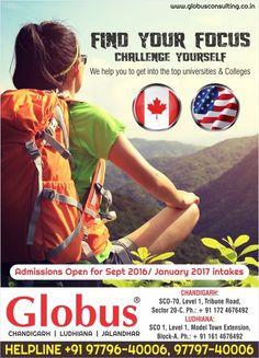 Study in #Canada #USA!!! Admission is now open. Call today!!!  #Globus #Chandigarh #Ludhiana #Jalandhar #studyabroad #settleabroad #studyincanada #spp #sppcanada #oursuccessstories #canadaspecialist #Punjab #studyinusa  #studyinaustralia #studyinnz #immigration #bestimmigrationconsultant  #visaspecialist #visa #usa #globusconsulting #globusconsultant #globusconsultancy #globusconsultinggrouppvtltd