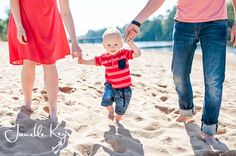 Toddler family photo session on the beach