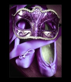 So who wants to host a masquerade ball? Love the purple ballet slippers too! Too bad my ballet is terrible. The Purple, Purple Rain, All Things Purple, Shades Of Purple, Magenta, Purple Stuff, Purple Sparkle, Purple Shoes, Purple Velvet