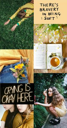 """Hannah Abbott aesthetic- the girls of hogwarts: """"A pink-faced girl with blonde pigtails stumbled out of line, put on the hat, which fell right down over her eyes, and sat down. A moment's pause- """"HUFFLEPUFF!"""" shouted the hat."""""""