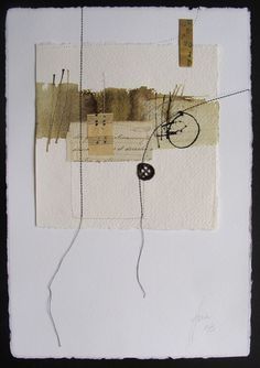 Blanca Serrano Serra.  - simple and monochromatic with stitching.  Note impressed paper frame