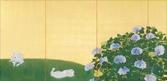 速水御舟「翠苔緑芝」