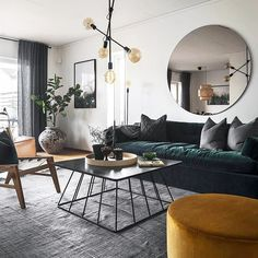 Scandinavian design never gets old. Loving these rich colours and lush textures. My Living Room, Interior Design Living Room, Home And Living, Living Room Designs, Living Room Decor, Design Lounge, Living Room Inspiration, Interiores Design, Home Decor