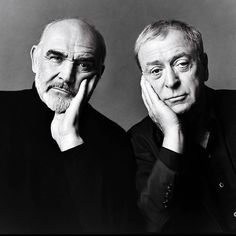 Sean Connery and Michael Caine, by Annie Leibovitz for Vanity Fair Annie Leibovitz, Hollywood Stars, Classic Hollywood, Old Hollywood, Sean Connery, Michael Cain, Caine Michael, British Actors, American Actors