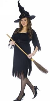 Black Magic Adult Halloween Witch Costume Plus Size 16w-24w