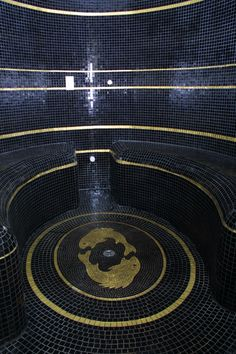 Commissioned mosaic for a steam room