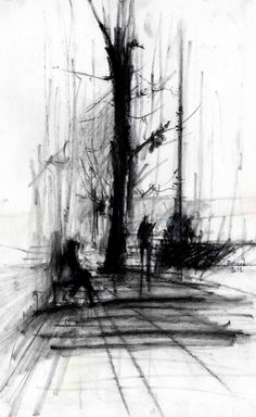 Enjoy These Cityscapes In The Form Of Urban Sketches: 40 Beautiful Locations - Bored Art Urban Sketchers, Abstract Drawings, Art Drawings, Hipster Drawings, Couple Drawings, Pencil Drawings, Abstract Art, Croquis Architecture, Charcoal Sketch