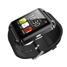 "Professional Bluetooth Smartwatch Wireless Digital Wrist Watch Fitness Band w/ 1.5"" Touch Screen, Remote Camera Control, Pedometer (Black)"