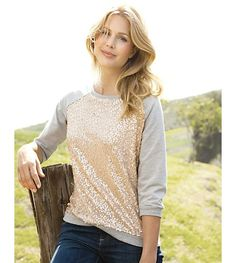 Sequins!!  Even better....casual sequins!  Loooooove this!