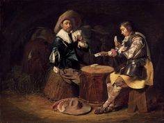 Duyster, Willem Cornelisz - Card-Playing Soldiers - Baroque - Genre - Oil on wood