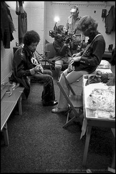 Jimi Hendrix and Mick Taylor 1969 | Ethan Russell Photographs