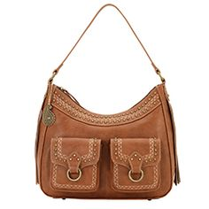 Bandana by American West Missoula Saddle Tan Zip-Top Shoulder Bag Faux Leather Fringe Handbags, Purses And Handbags, American West Handbags, Leather Purses, Leather Bag, Western Purses, Vintage Leather, Fashion Handbags, Bandana