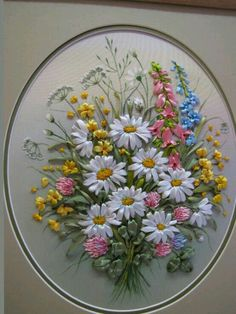 Wonderful Ribbon Embroidery Flowers by Hand Ideas. Enchanting Ribbon Embroidery Flowers by Hand Ideas. Embroidery Designs, Ribbon Embroidery Tutorial, Hand Embroidery Stitches, Silk Ribbon Embroidery, Beaded Embroidery, Cross Stitch Embroidery, Embroidery Supplies, Embroidery Books, Embroidery Tattoo