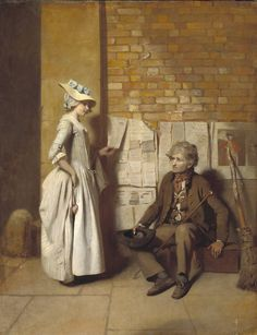Henry Walton 'A Girl Buying a Ballad', exhibited 1778. Tate Museum, Accession #T07594.