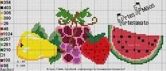 Diy Embroidery, Cross Stitch Embroidery, Cross Stitch Patterns, Cross Stitch Fruit, Cross Stitching, Diy And Crafts, Projects To Try, Tapestry, Charts