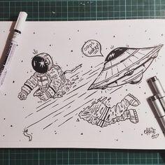Inktober Day2 (Divided) .  .  .  .  .  #effect14 #inktober #inktober2017 #divided #spacekill #oops #spaceship #overthespeedlimit #hitandrun #astronaut