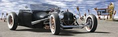 Rat Rod On Route 66 2 by Mike McGlothlen