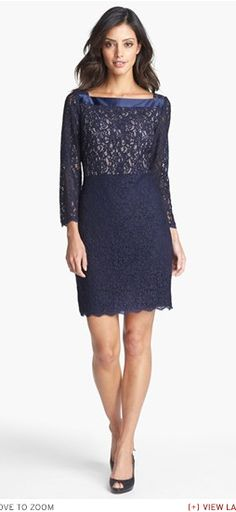 Adrianna Papell Lace Wedding Guest Dress