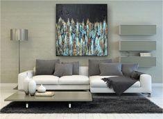 """Freue mich, euch diesen Artikel aus meinem Shop bei #etsy vorzustellen: VICTORIA XL Acryl Gemälde """"Oxydoxy"""" 70x70cm Abstrakt Victoria, Modern, Couch, Painting, Etsy, Furniture, Home Decor, Canvas, Trendy Tree"""