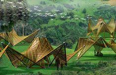 ARQUITETANDO IDEIAS: Origami inspira abrigos em bambu