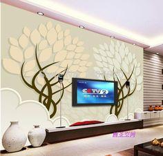 any sizel 3D romantic flower trees photo wallpaper mural Modern papel de parede 3d floral murals wall paper for living room